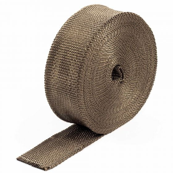 "Pitking Products Volcano Exhaust Wrap – 1"" x 25FT Volcano Wrap, Brown"