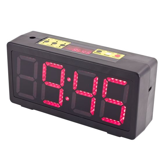 Pitking Products Rally Service Area / Paddock Clock – Dimensions: 327x156x93mm, 10cm LED Numbers