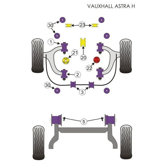 Powerflex Single Gearbox Mount Insert – Appears in Position 21 on Diagram