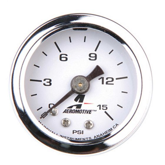 Aeromotive Fuel Pressure Gauge – 0-15 Psi, Black