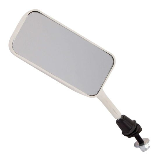 Racetech Single Seater Mirror – Flat Glass Left Hand White