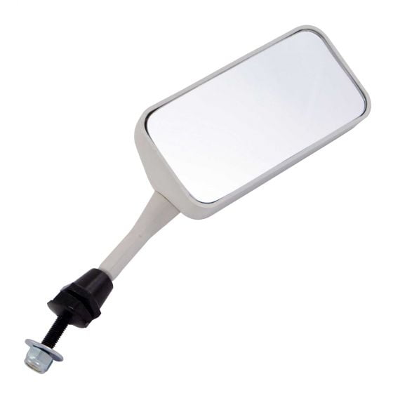 Racetech Single Seater Mirror – Convex Glass Right Hand White