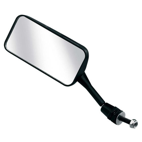 Racetech Single Seater Mirror – Flat Glass Left Hand Black