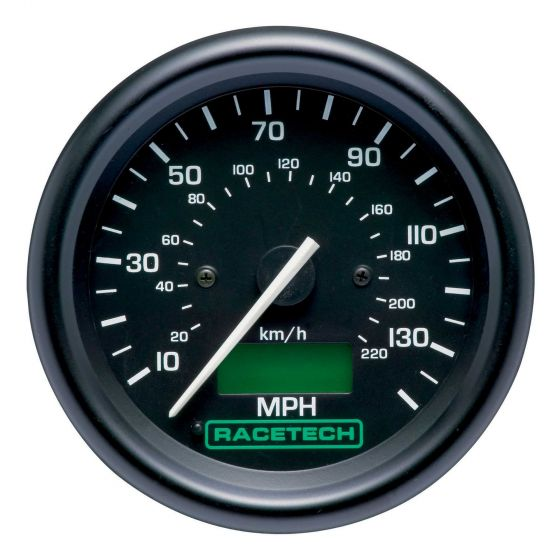 Racetech 80mm Speedometer, Black