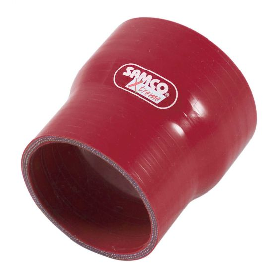 Samco Xtreme Straight Reducer Hose – 89mm to 80mm Red, Red
