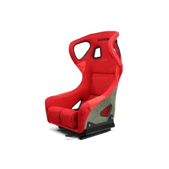 Seibon Carbon Kevlar Racing Seat – FC Type, Red