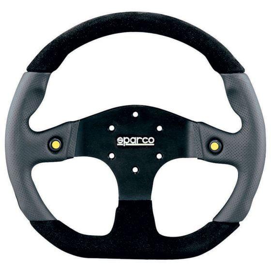 Sparco L999 Steering Wheel – Black Leather/Alcantara – 330mm