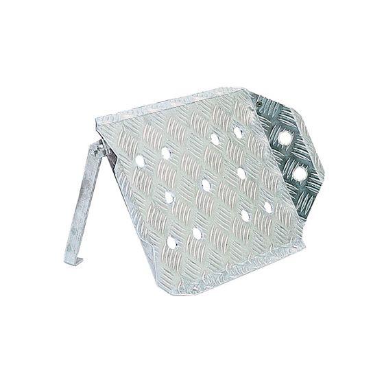 Sparco Aluminium Navigators Footrest – Anodised Silver, Silver
