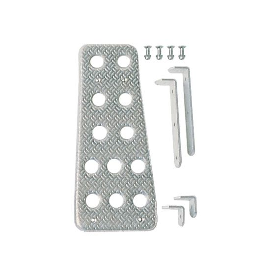 Sparco Anodised Aluminium Drivers Footrest – Silver, Silver
