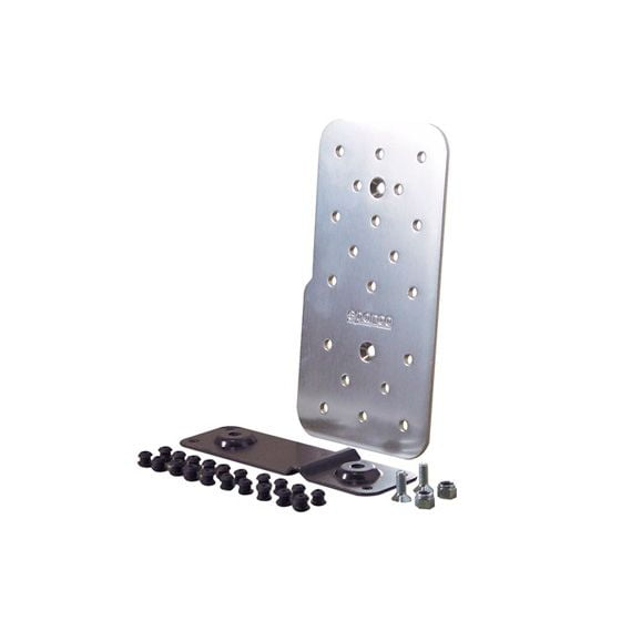 Sparco Polished Aluminium Drivers Footrest, Silver