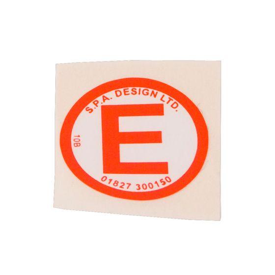 SPA Design Extinguisher Decal
