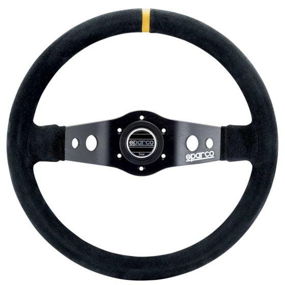 Sparco 215 Steering Wheel – Black Leather – 350mm