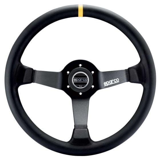 Sparco 345 Steering Wheel – Black Leather – 350mm