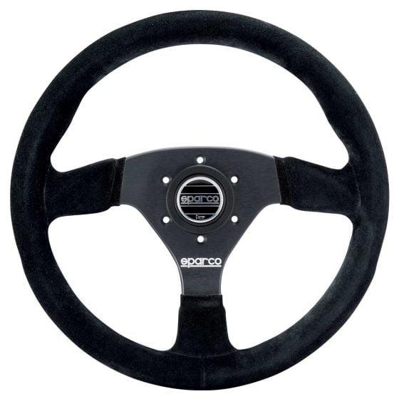 Sparco 383 Steering Wheel – Black Suede – 330mm