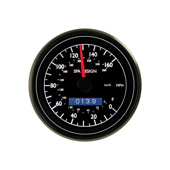 SPA Design Professional 80mm Classic Speedometer, Black