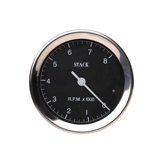 Stack ST200 Classic 80mm Tachometer – 0-10000 Rpm, Black
