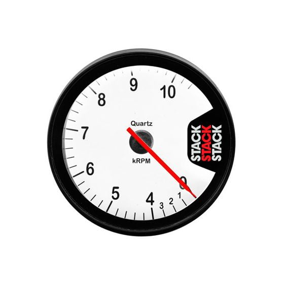 Stack ST200 80mm Clubman Tachometer – 0-4-10500 Rpm White Dial Face, White