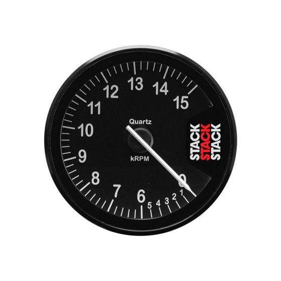 Stack ST200 80mm Clubman Tachometer – 0-6-15000 Rpm Black Dial Face, Black