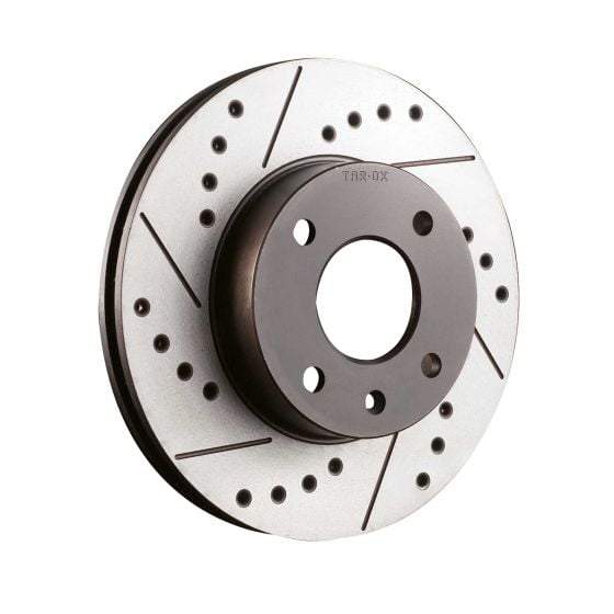 Tarox Sport Japan Drilled And Grooved Performance Brake Discs – Rear Pair 336mm x 22mm Vented Discs