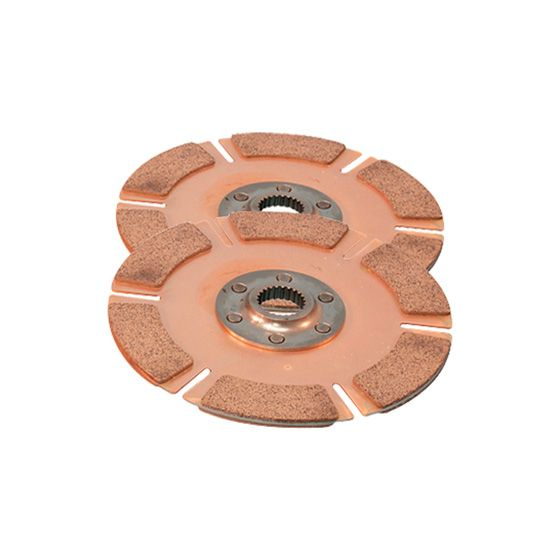 "Tilton 5.5"" Cerametallic Twin Plate 5 Paddle Disc Pack – 1"" x 10"