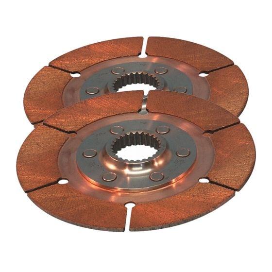 "Tilton 7.25"" Sintered Twin Plate Disc Pack – 7/8"" x 10"