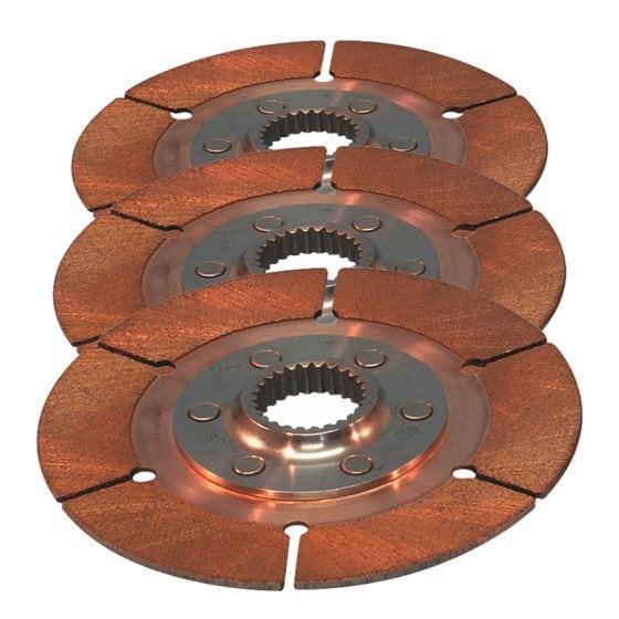 "Tilton 7.25"" Sintered Triple Plate Disc Pack – 30.8mm x 14"