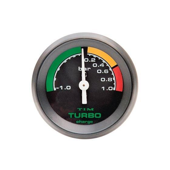 TIM Turbo Boost Gauge – -1 to 1 Bar Black Dial Face, Black
