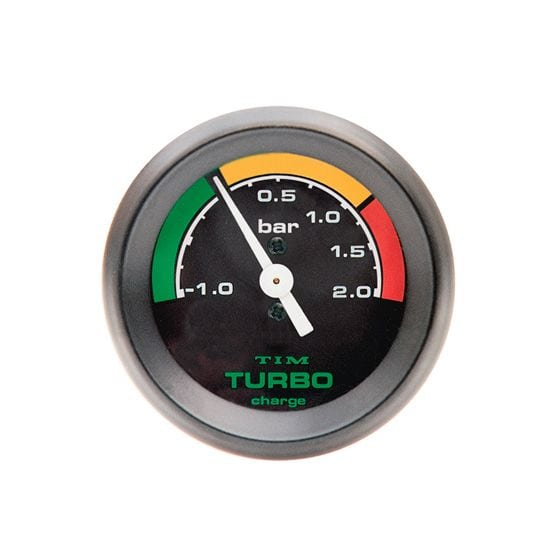 TIM Turbo Boost Gauge – -1 to 2 Bar Black Dial Face, Black