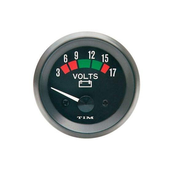 TIM Voltmeter – Black Dial Face, Black