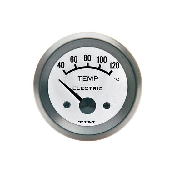 TIM Water Temperature Gauge – Electrical – White Dial Face, White