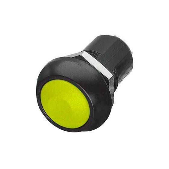 Trillogy Latching Push Button Switches – Yellow Button Black Bezel