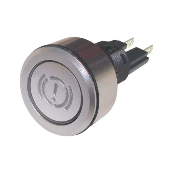Trillogy Engraved Aluminium Warning lights – Brake Warning, Silver