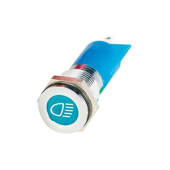 Trillogy LED Warning Lights – Main Beam Warning Light, Blue