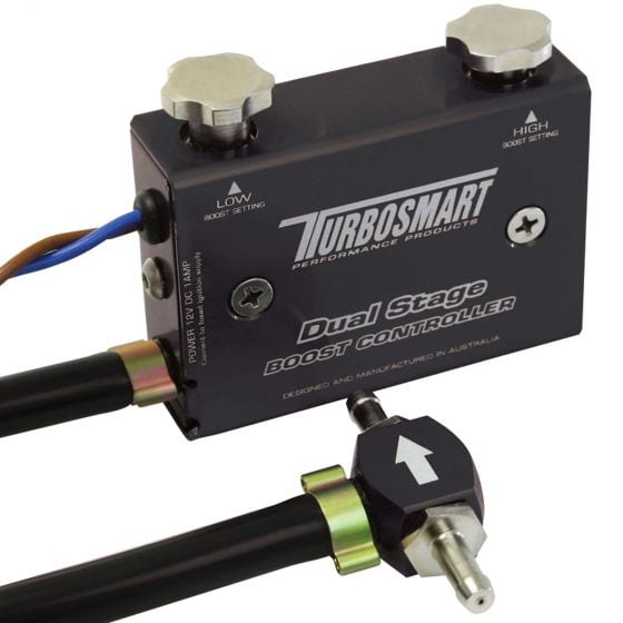 Turbosmart Dual Stage Boost Control Valve – Black, Black