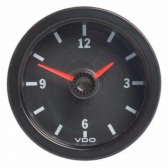 VDO International Clock – 12V 52mm, Black
