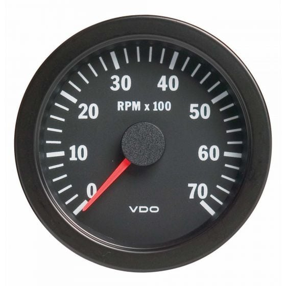 VDO Vision Range Tachometer – 80mm Diameter 0-7000Rpm, Black