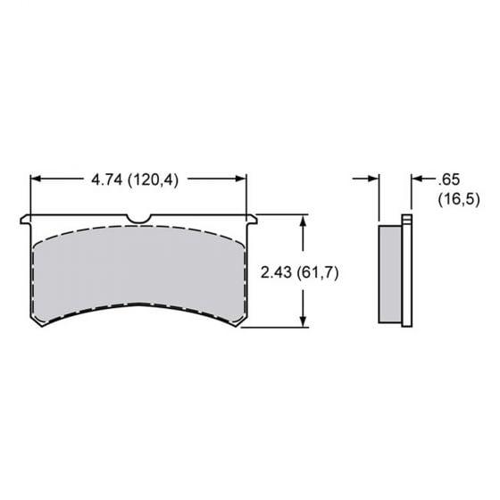 Brake Pads To Suit Wilwood Narrow Superlite 4 & 6 Pot Caliper – EBC Bluestuff Ceramic Compound – Set Of 4