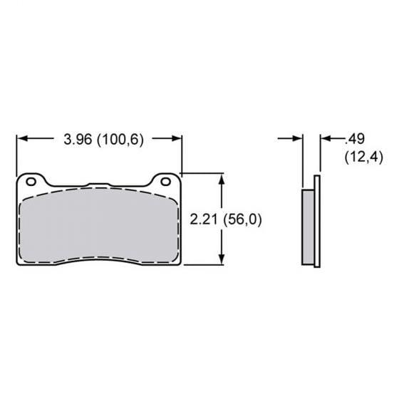 Wilwood Dynapro / Dynalite 4 Pot Caliper Brake Pads – EBC Redstuff Ceramic Compound – Set Of 4