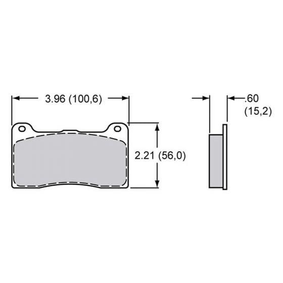 Brake Pads To Suit Wilwood Dynalite Narrow Caliper – EBC Redstuff Compound – Set Of 4