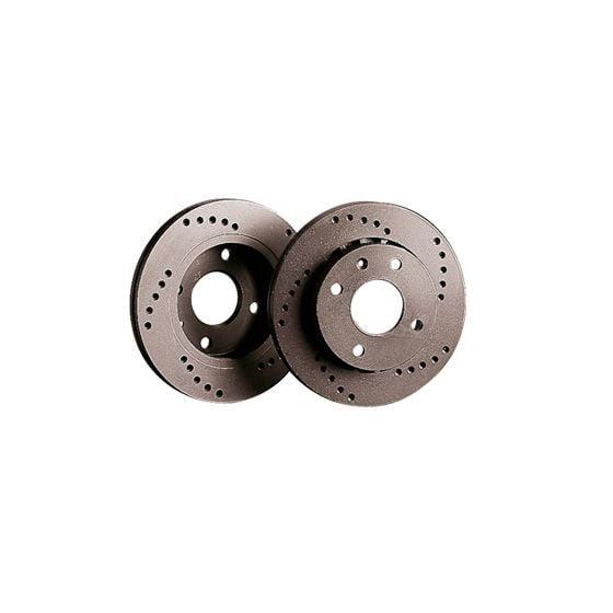 Black Diamond XD Cross Drilled Brake Discs – Rear Pair 331x14mm Solid Discs