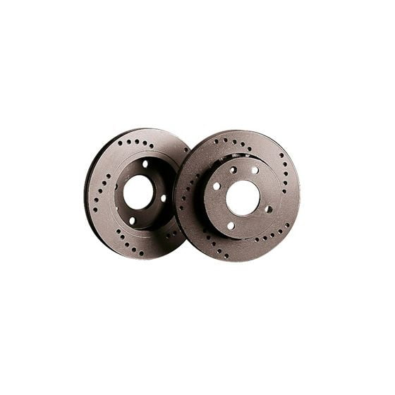Black Diamond XD Cross Drilled Brake Discs – Rear Pair 354x12mm Solid Discs