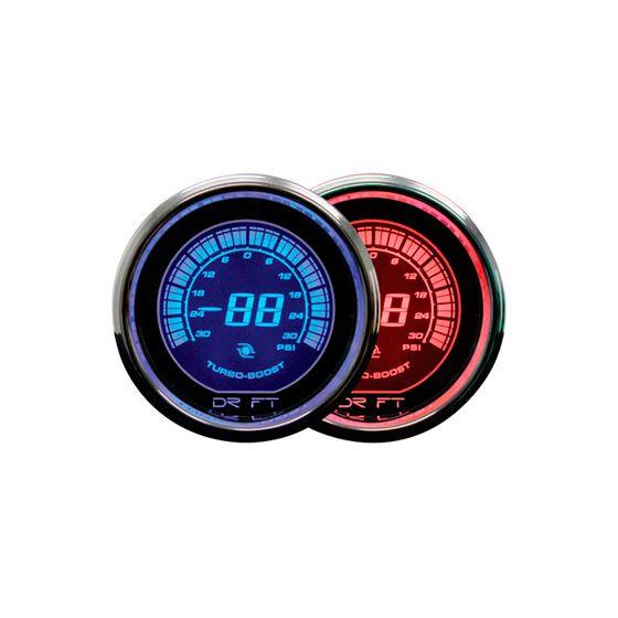 Drift Turbo Boost Gauge – Iridium Range – Red, Red