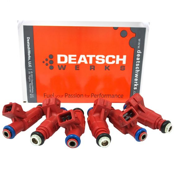 DeatschWerks Set of 6 Top-Feed Injectors 1000cc/min (High Impedance) (11mm O-Ring)