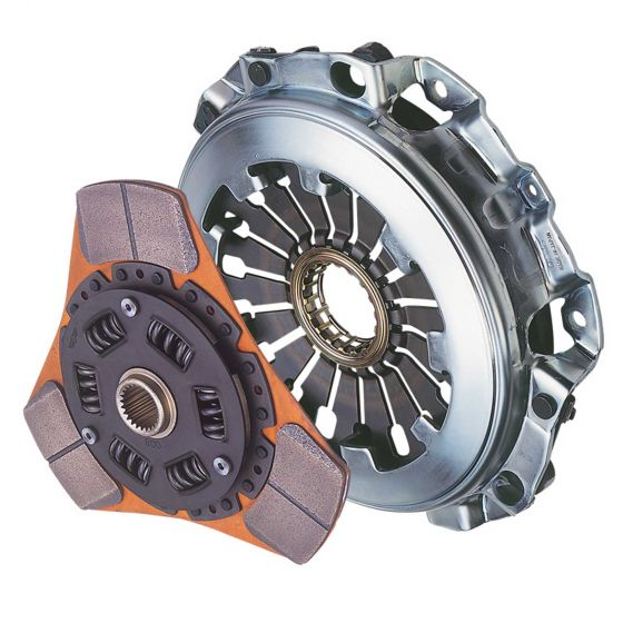 Exedy Stage 2 Sports Clutch Kit, 3 Paddle 225mm Sprung Cerametallic Plate – 3 Paddle 225mm Sprung Cerametallic Plate, Up to 240lbs Torque – Bearing Included