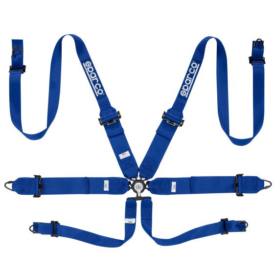 Sparco Pro Racer 6 Point (Steel) FHR Harness, Blue