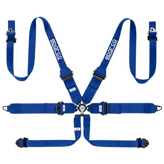 Sparco Pro Endurance 6 Point FHR Harness, Blue