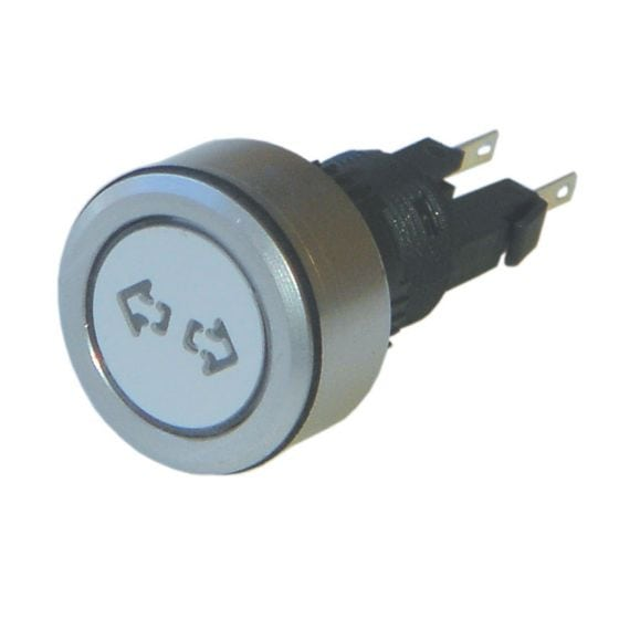 Trillogy Engraved Aluminium Warning lights – Indicator, Silver