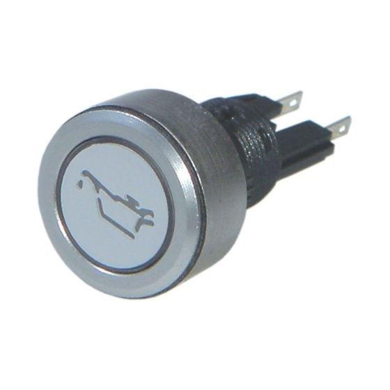 Trillogy Engraved Aluminium Warning lights – Oil, Silver