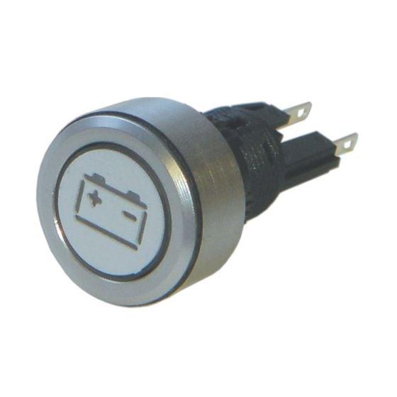 Trillogy Engraved Aluminium Warning lights – Battery, Silver