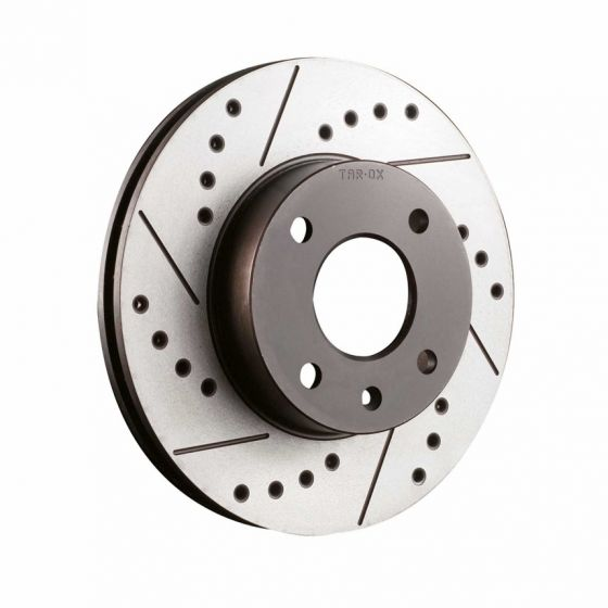 Tarox Sport Japan Drilled And Grooved Performance Brake Discs – Rear Pair 354mm x 12mm Solid Discs